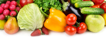 Set of fruits and vegetables Stock Photography