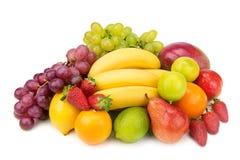 Set of fruits. On white background Stock Photography