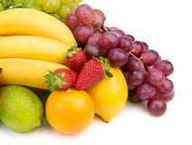 Set of fruits Stock Images