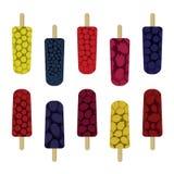Fruity ice pops set. Set of fruity ice pops - vector illustration vector illustration