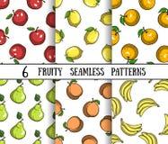 Set Fruity Patterns Royalty Free Stock Image