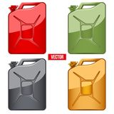 Set of Fuel container jerrycan. Gasoline canister Stock Image