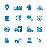 Set of Fuel Station Icon Stock Photo