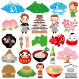 Fukushima illustrations. Set of Fukushima illustrations Stock Image