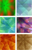 A set of 6 full-color backgrounds Royalty Free Stock Photos
