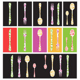 Set full-color cutlery Stock Images