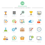 Set of Full Color SEO and Development icons Set 2 Royalty Free Stock Photography