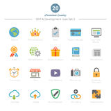 Set of Full Color SEO and Development icons Set 3 Stock Photos