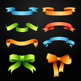 Set of full colors ribbons Stock Photo