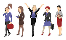 Set of full length portraits of business people Stock Photography