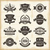Vintage premium quality labels set stock illustration