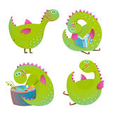 Set of fun cartoon dragons Stock Photo