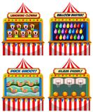 A Set of Fun Fair Tents stock illustration
