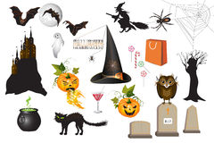 Set of fun Halloween icons Royalty Free Stock Images