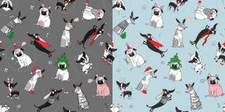 Pugs royalty free illustration