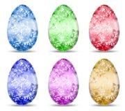 Set funkelnde Eier Stockfoto