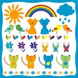 Set of funny animals. A set of funny animals stock illustration