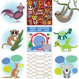 Set of funny animals. Greeting cards Happy Royalty Free Stock Images