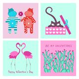 Love elements for Valentines day Stock Photos