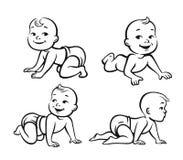Set of funny babies Royalty Free Stock Photos