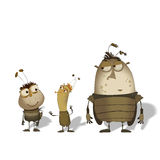 Set of  funny cartoon bugs Stock Photo