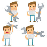 Set of funny cartoon casual man Stock Photo