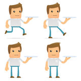 Set of funny cartoon casual man Royalty Free Stock Images