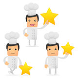 Set of funny cartoon chef Stock Photo
