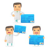 Set of funny cartoon doctor Royalty Free Stock Images