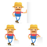 Set of funny cartoon farmer Royalty Free Stock Photo