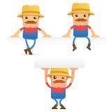 Set of funny cartoon farmer Royalty Free Stock Photo