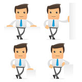 Set of funny cartoon manager Royalty Free Stock Images
