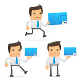 Set of funny cartoon manager Stock Photography