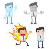 Set of funny cartoon manager Royalty Free Stock Photography