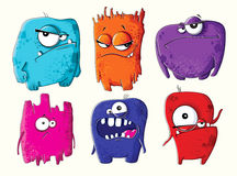 Set of funny cartoon monsters Royalty Free Stock Images