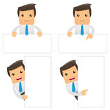 Set of funny cartoon office worker Stock Photos