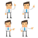 Set of funny cartoon office worker Royalty Free Stock Image