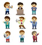 Set of funny cartoon office worker talk with Micro Stock Photography