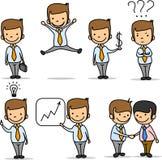 Set of funny cartoon office worker,vector Stock Photos