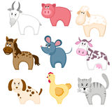 Set of funny cartoon pets. Royalty Free Stock Photos