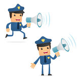 Set of funny cartoon policeman Royalty Free Stock Photos