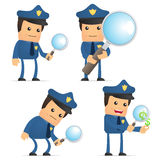 Set of funny cartoon policeman Stock Photo