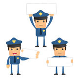 Set of funny cartoon policeman Royalty Free Stock Photo