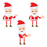 Set of funny cartoon Santa Claus Stock Photo