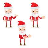 Set of funny cartoon Santa Claus Stock Photo