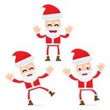 Set of funny cartoon Santa Claus Royalty Free Stock Photo
