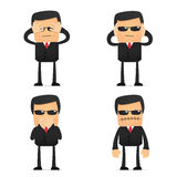 Set of funny cartoon security. In various poses for use in presentations, etc Stock Images