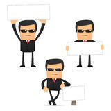 Set of funny cartoon security. In various poses for use in presentations, etc Royalty Free Stock Images