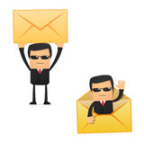 Set of funny cartoon security. In various poses for use in presentations, etc Royalty Free Stock Photos