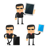Set of funny cartoon security Stock Images